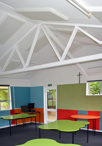 Acoustic panels on school Classroom Ceiling. Acoustic Foam Panel NZ